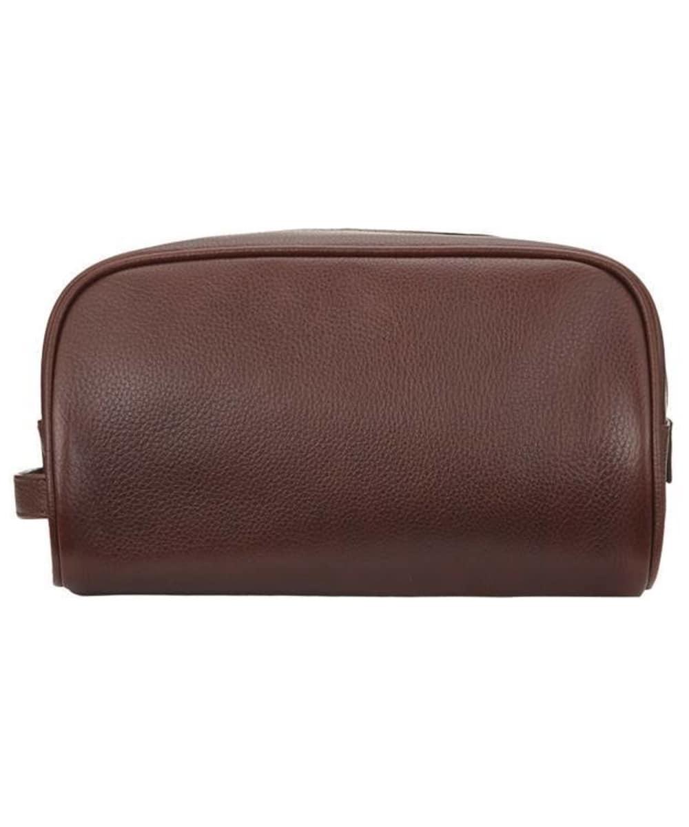 ... Barbour Leather Washbag - Brown ... 7ba200e3d63f0