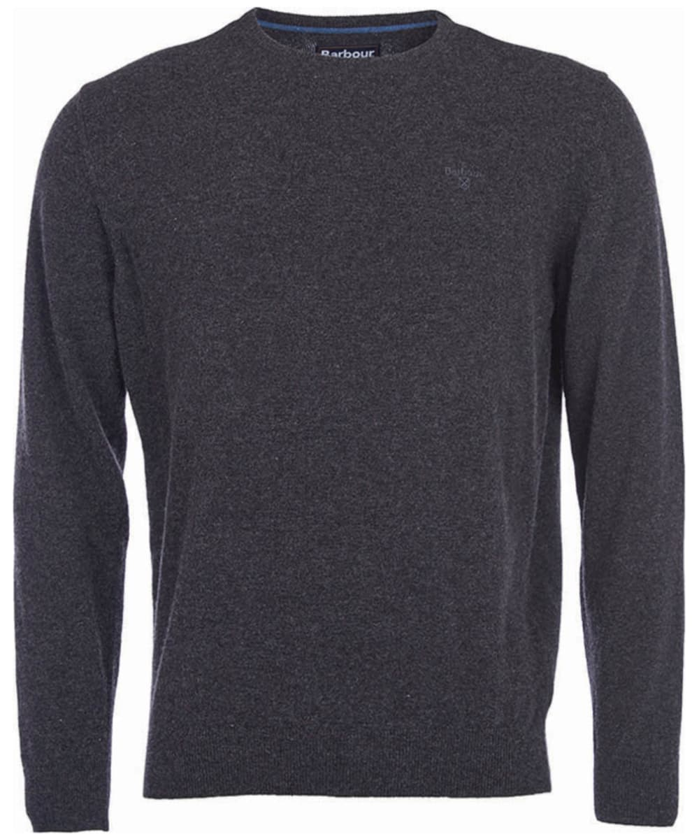 f89e760c48 ... Mens Barbour Essential Lambswool Crew Neck Sweater - Charcoal ...
