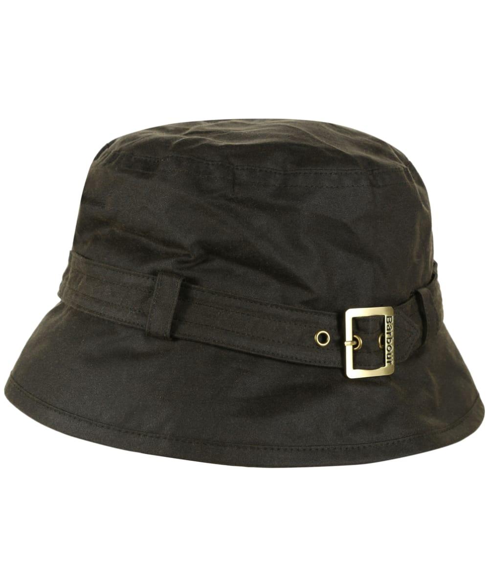 ... Black Womens Barbour Kelso Wax Belted Hat - Olive Women s ... 1140d74e63de