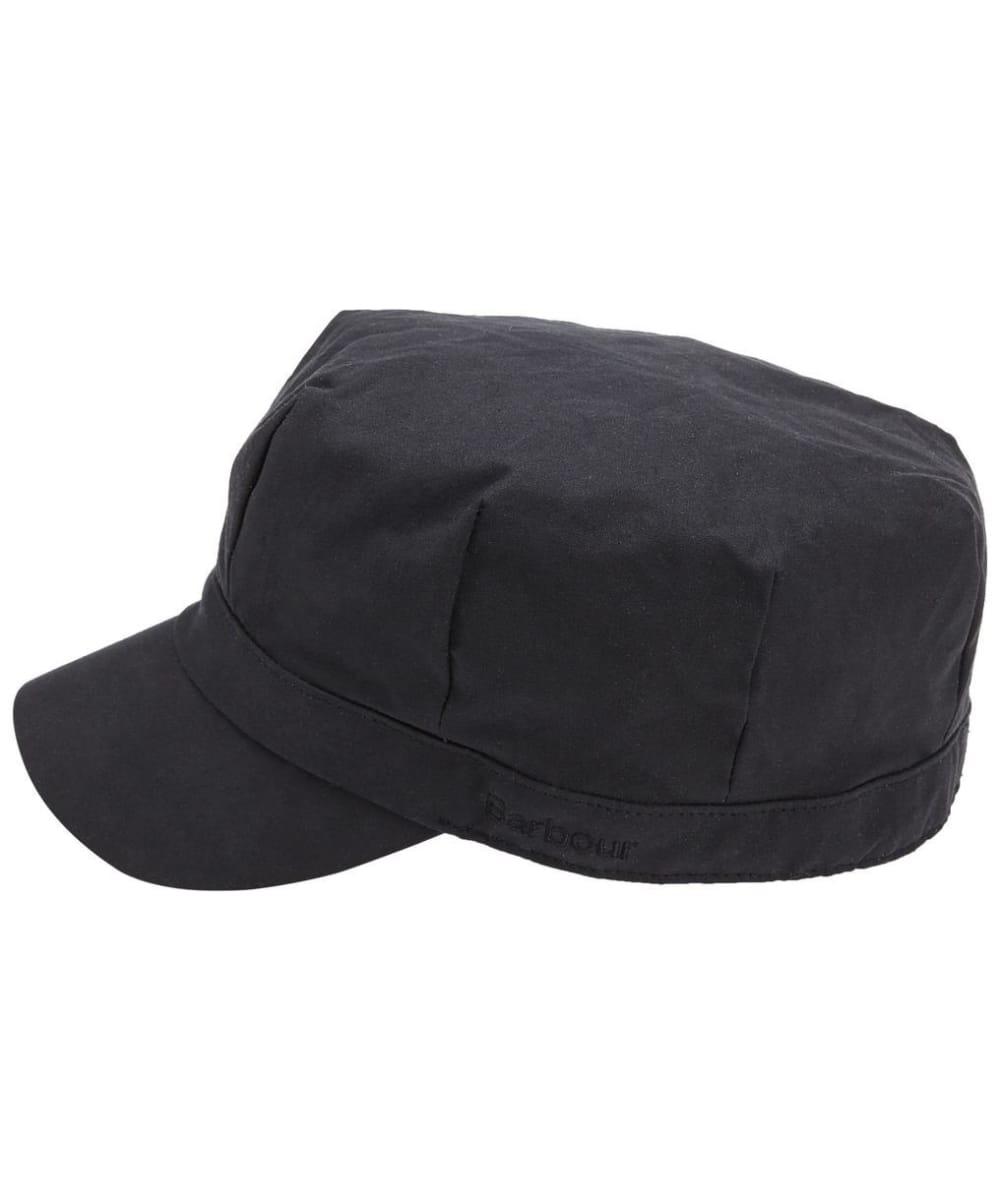 ... Women s Barbour Waxed Cotton Baker Boy Hat - Black ... dcd70f55c00