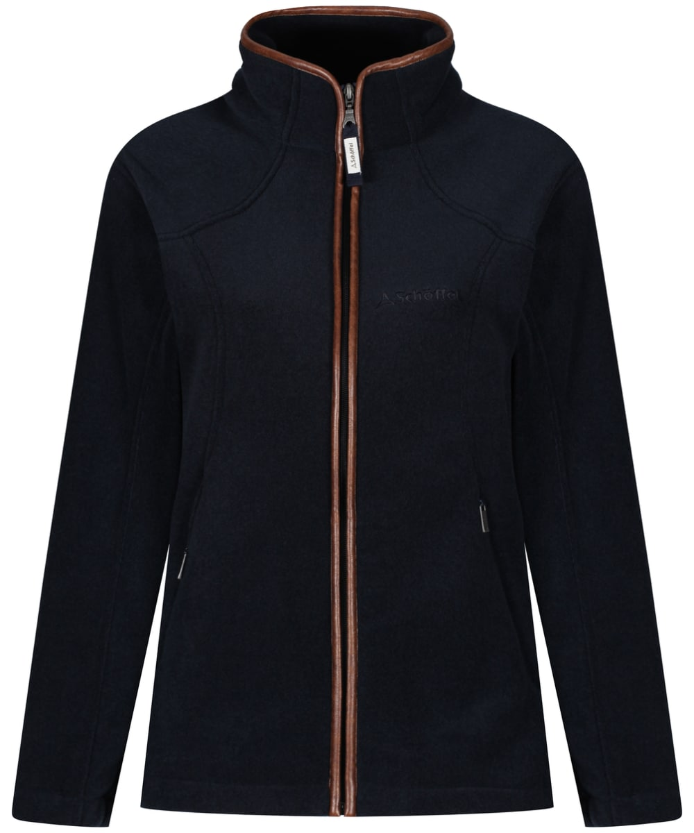 ... Women s Schoffel Burley Fleece Jacket - Navy ... ad221f833e
