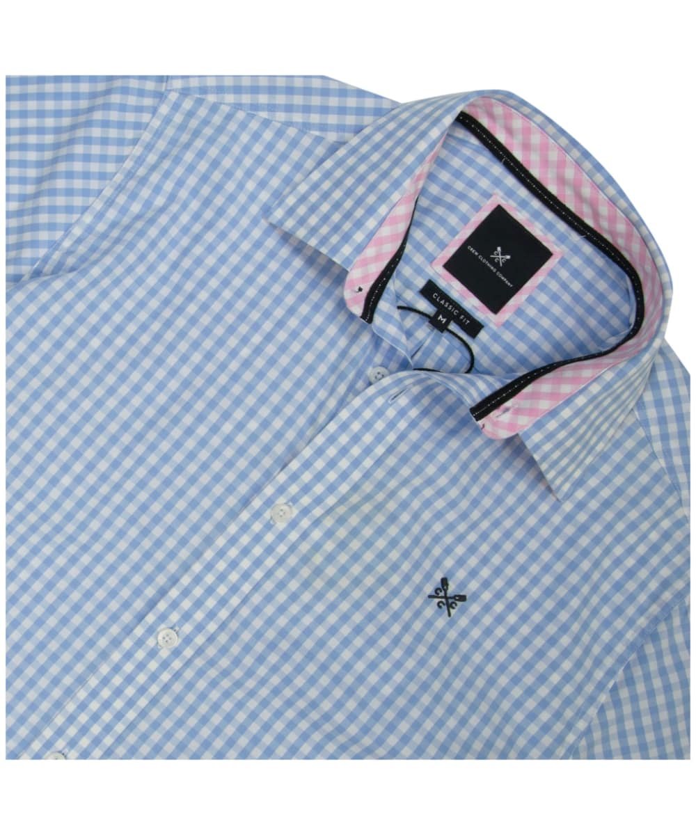 80ed4e3b426 ... Men s Crew Clothing Classic Gingham Shirt - Sky ...