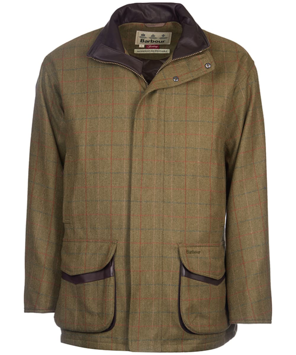 11197be2f8c35 Men's Barbour Moorhen Wool Jacket - Olive / Brown Check