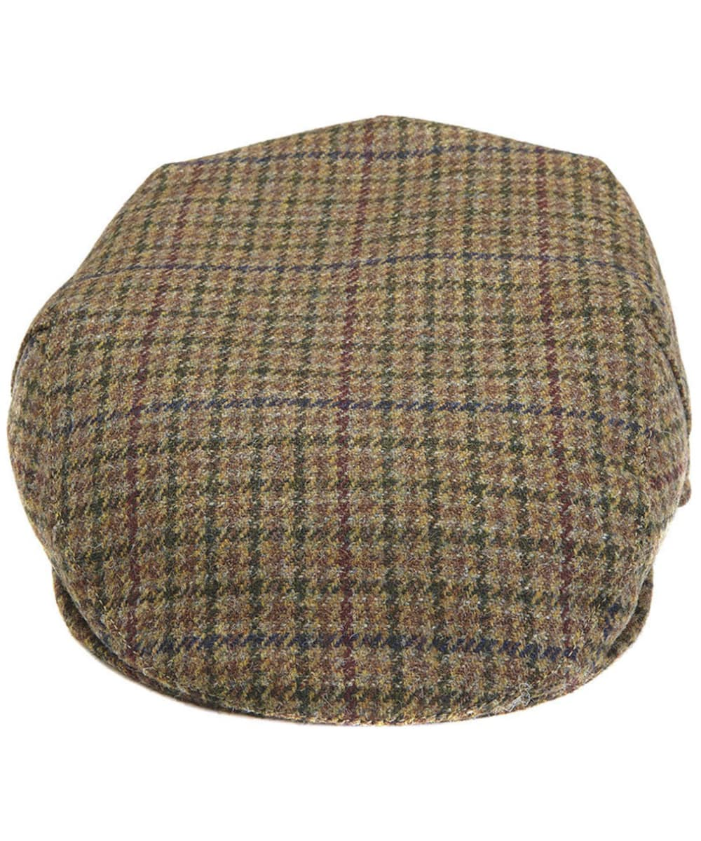 a460c3ad ... Men's Barbour Wool Crieff Flat Cap - Dark Olive Check ...