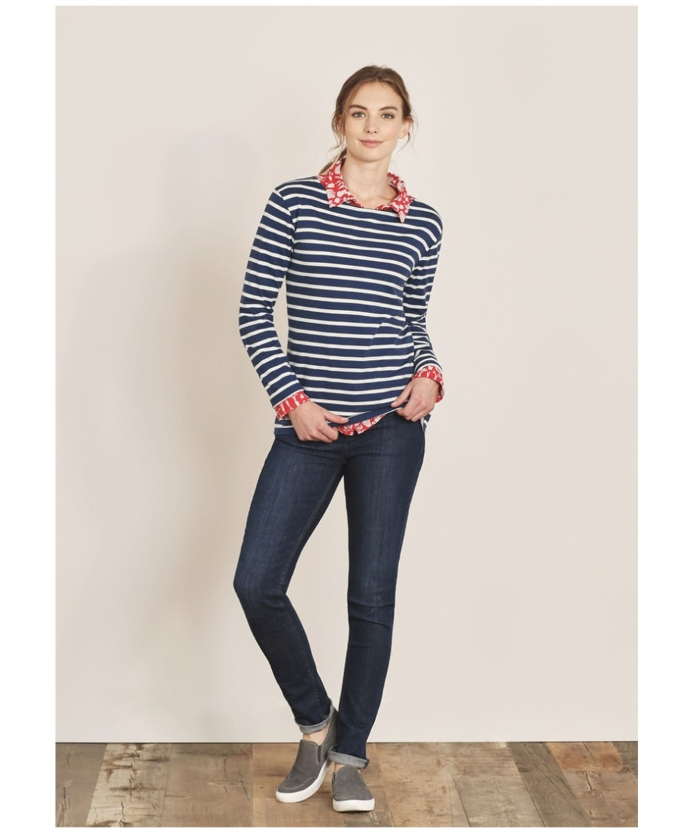 f546a36b ... Women's Seasalt Sailor Shirt - Breton Night Ecru ...