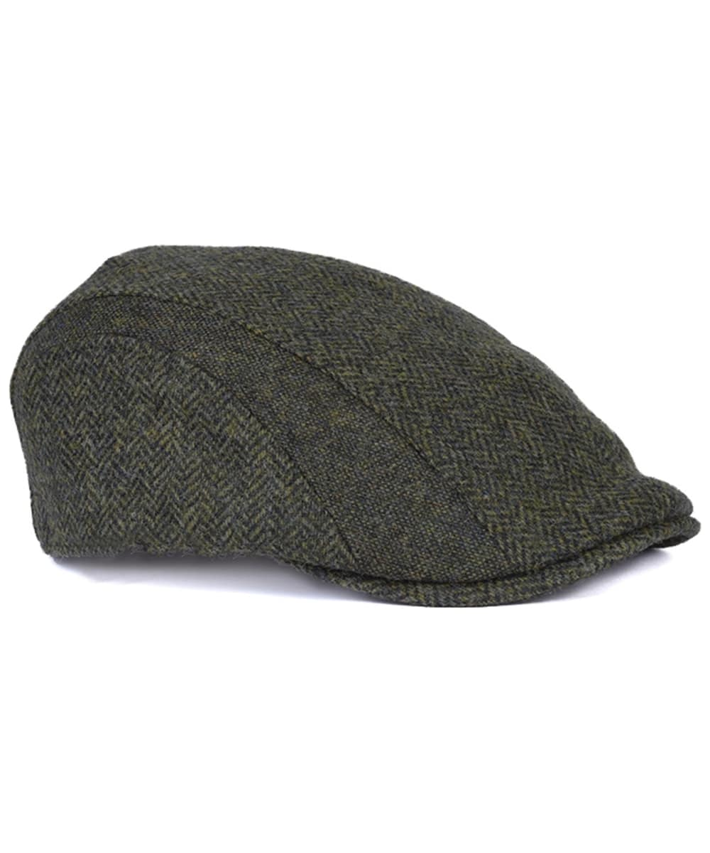 Men s Barbour Herringbone Tweed Cap - Olive 05626b322be