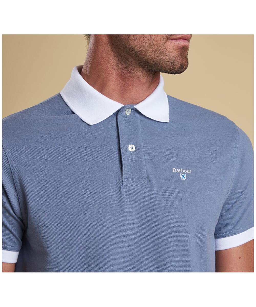 eb6731aa0 ... Men's Barbour Lynton Polo - Washed Blue ...
