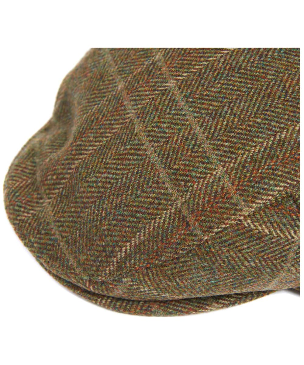 0a737d33 ... Men's Barbour Wool Crieff Flat Cap - Olive / Mixed Herringbone ...