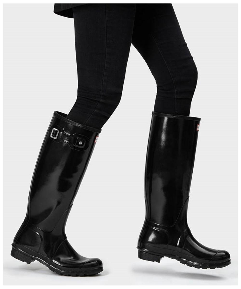 3e3b8c94e99 Women's Hunter Original Tall Gloss Wellington Boots