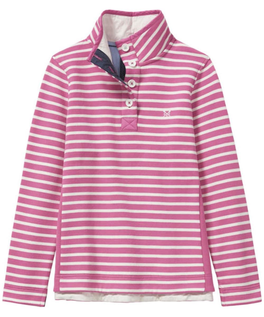 35a3ca663eb3 Women s Crew Clothing Half Button Sweatshirt - Fushcia   White Linen