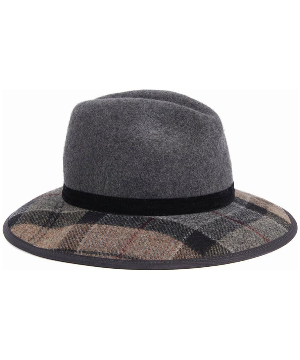 03d1edaa64c ... Women s Barbour Thornhill Fedora Hat - Grey   Winter ...