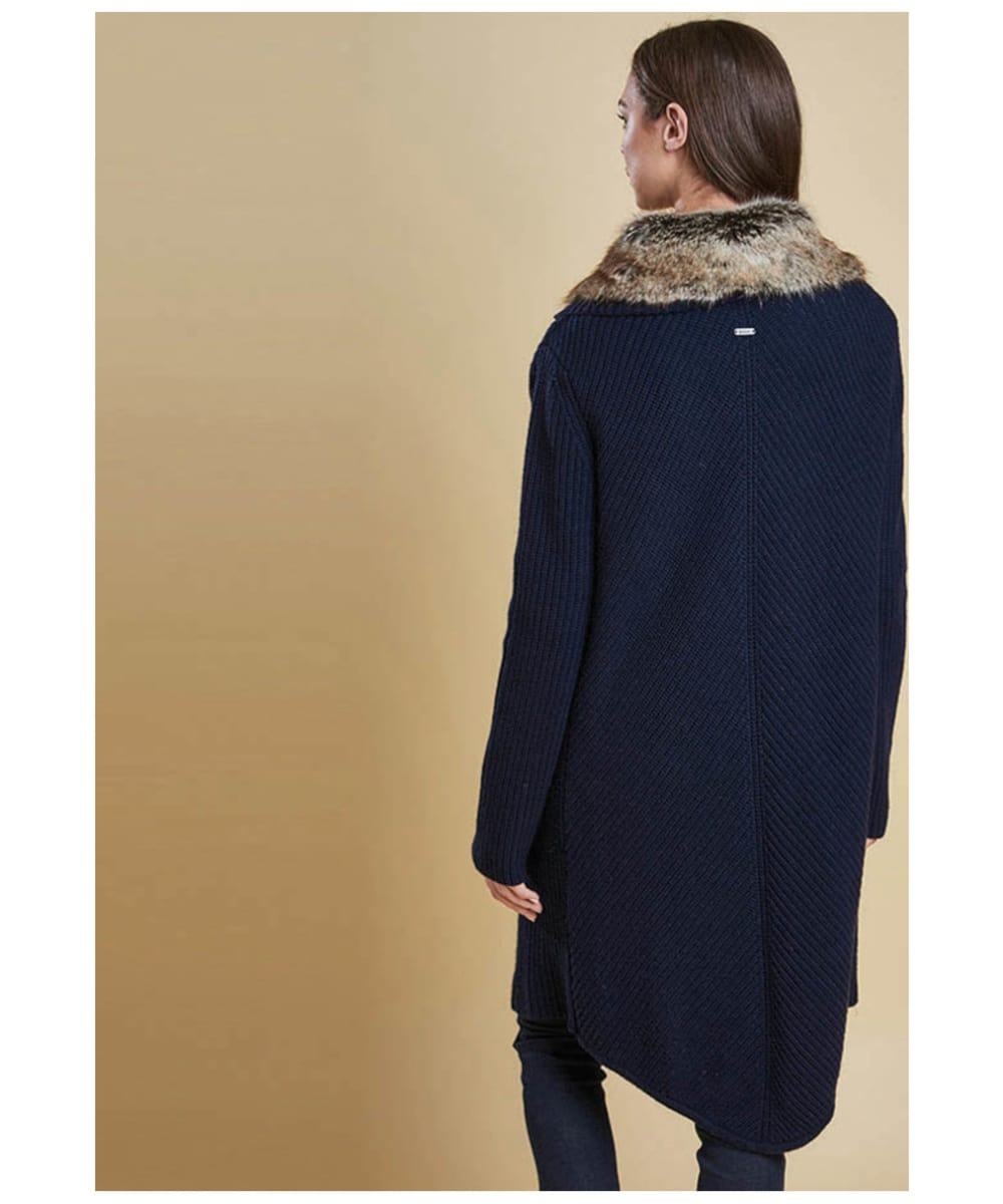 2f1a15b0fdda ... Women s Barbour Fortrose Knit Cardigan - Navy ...