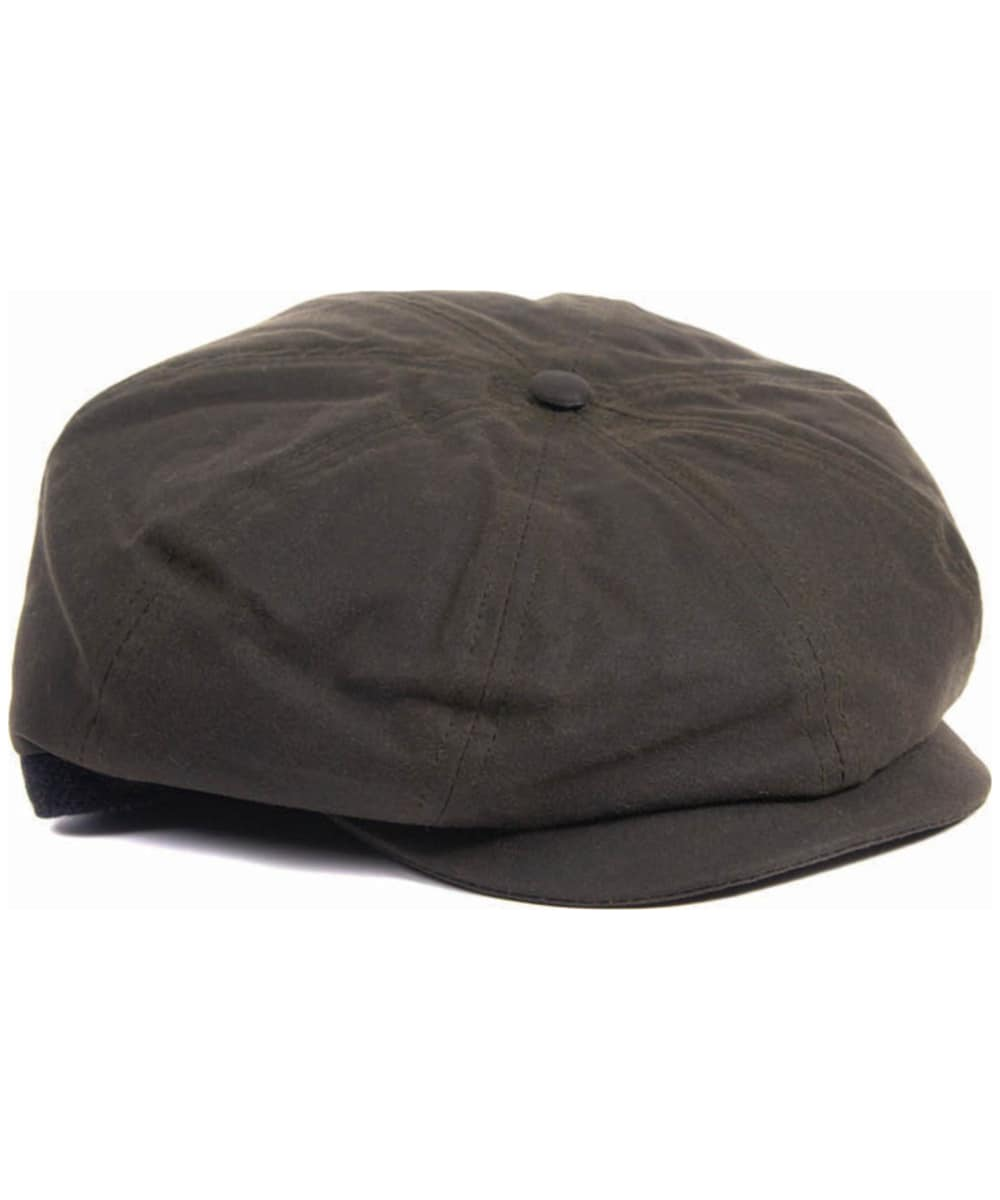 Men s Barbour Guillemot Baker Boy Hat - Olive   Classic Tartan a46d6b4e612