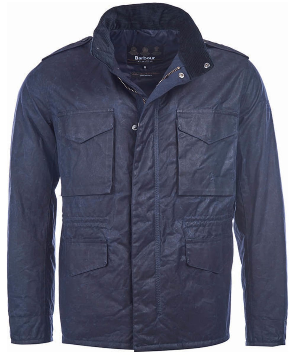 Men s Barbour Steve McQueen Field Wax Jacket - Navy ccbc5850f88d