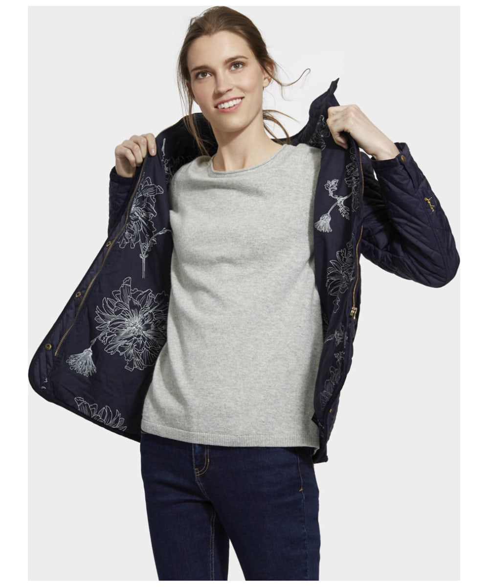 30403c316b4f ... Women s Joules Newdale Quilted Coat - Marine Navy ...