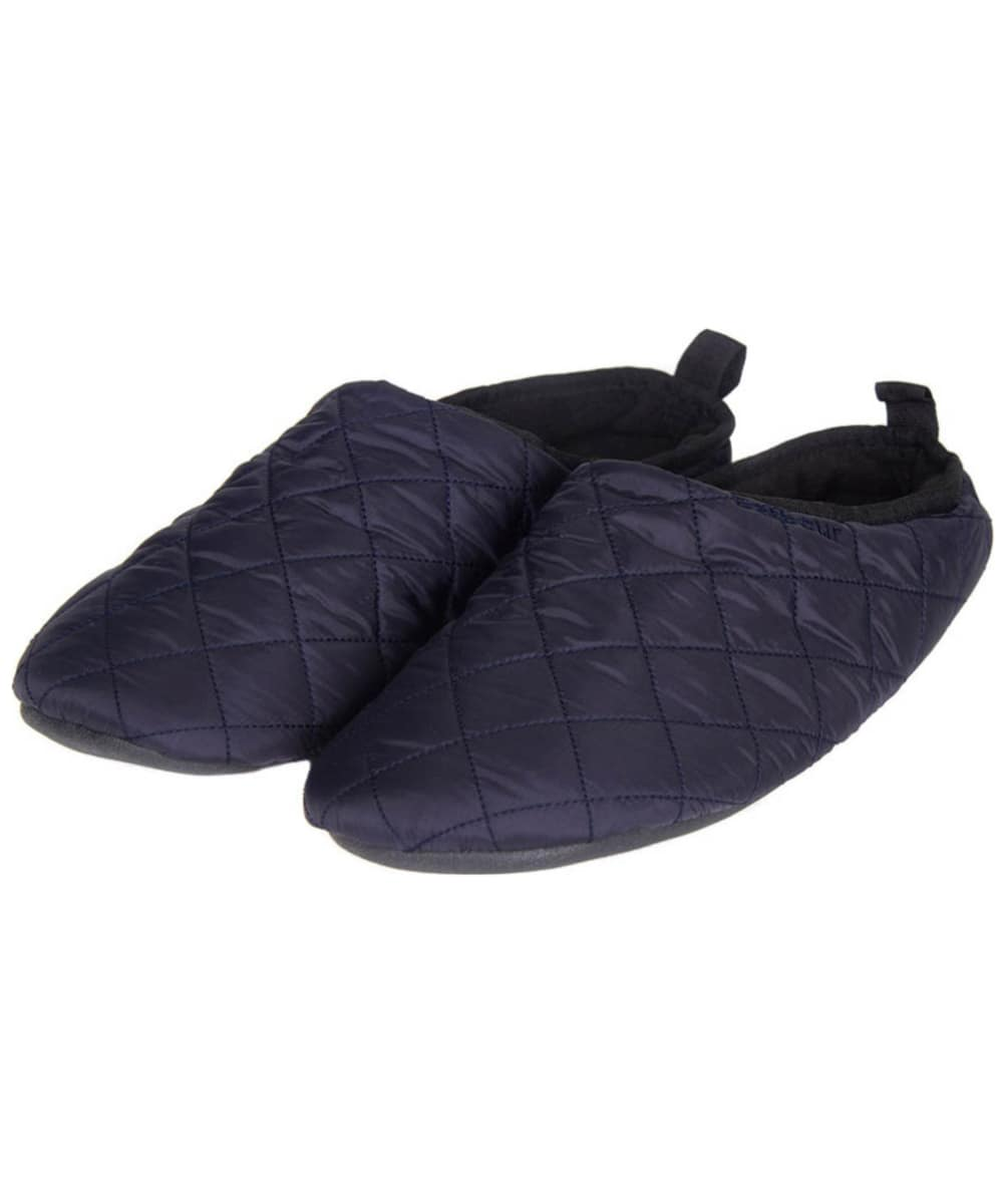 bfc126b144f09 Men's Barbour Gurthie Quilted Slippers - Navy