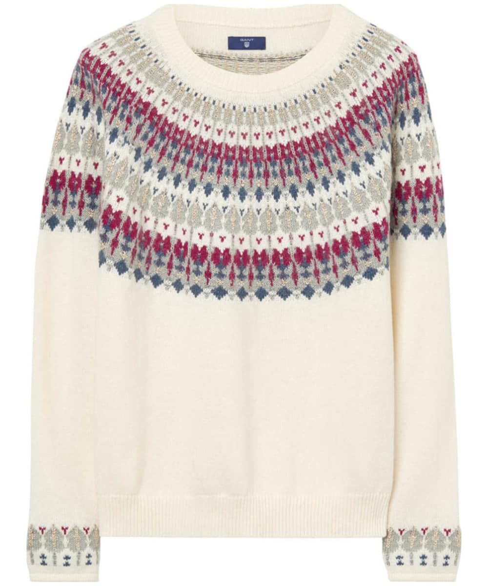 9de5c26b11f Women's GANT Cotton Wool Fairisle Crew Neck Sweater - Cream
