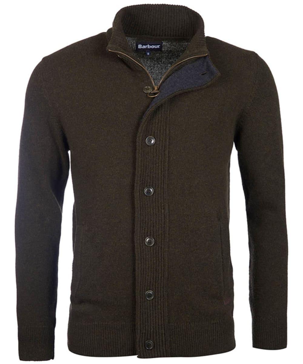 Men S Barbour Patch Zip Through Sweater