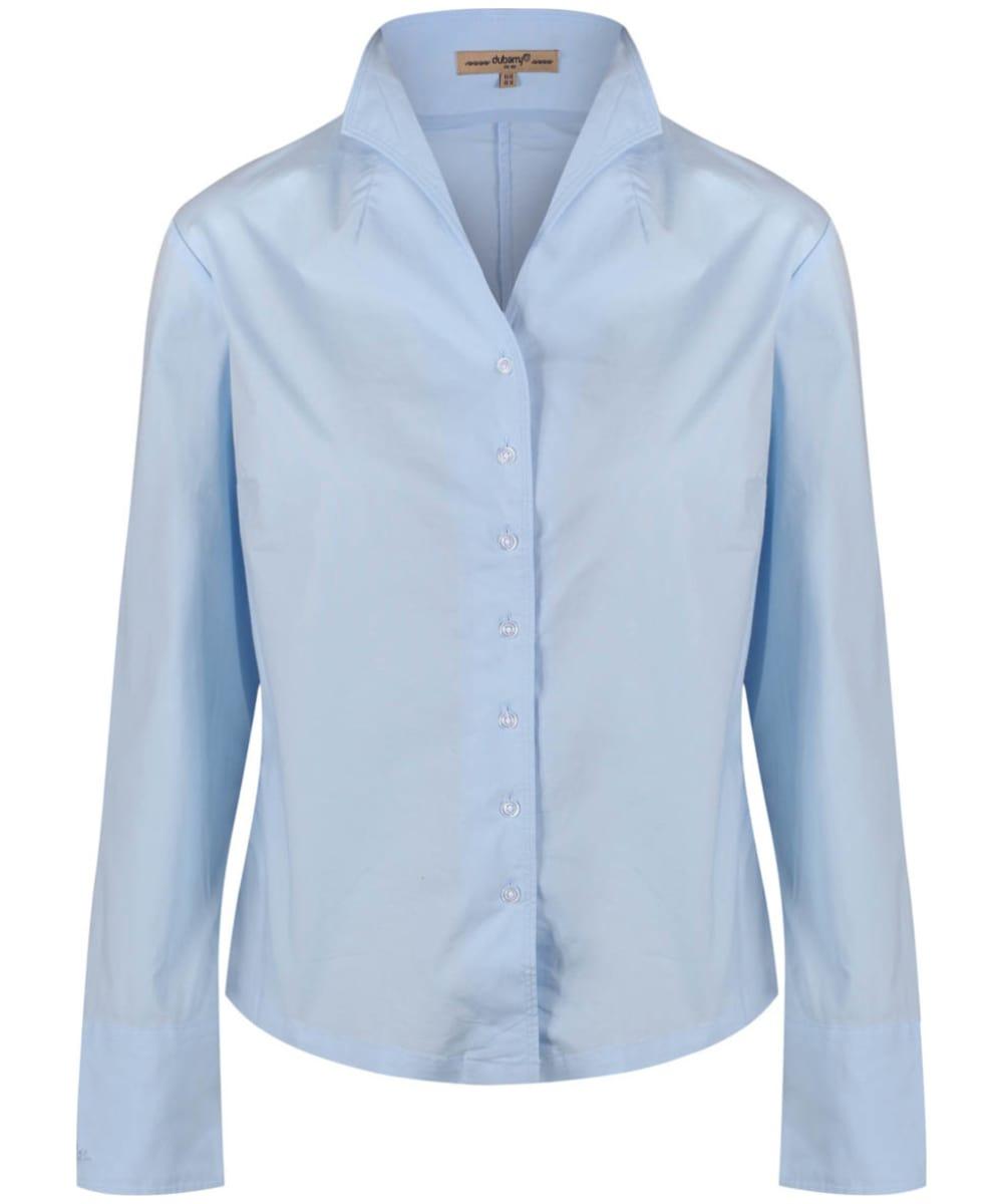 blue cotton shirt womens