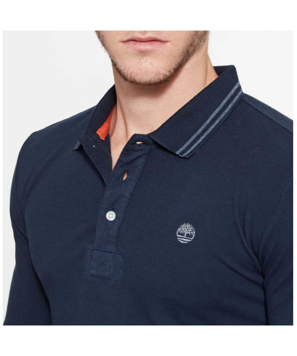 Men S Timberland Eastham Long Sleeve Polo Shirt