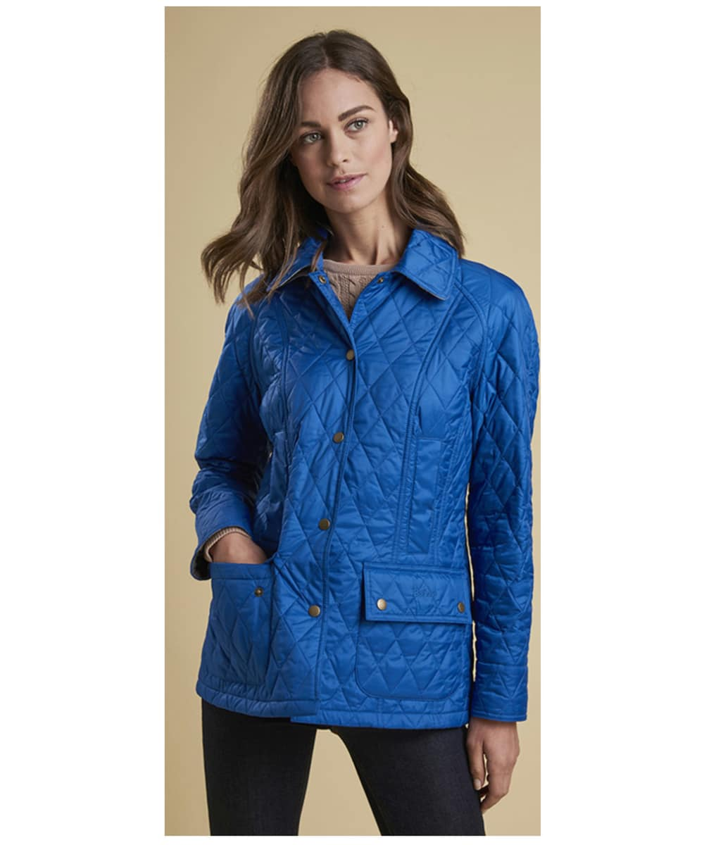 26e6bbc3ca2 ... Women s Barbour Summer Beadnell Quilted Jacket - Victoria Blue ...