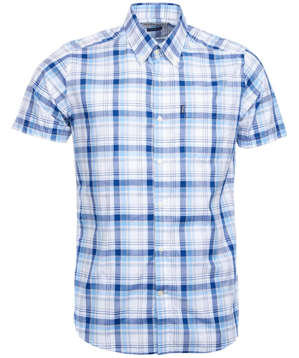 SOOPO Mens Casual Regular Fit Short Sleeve Button Down Plaid Checked Shirts