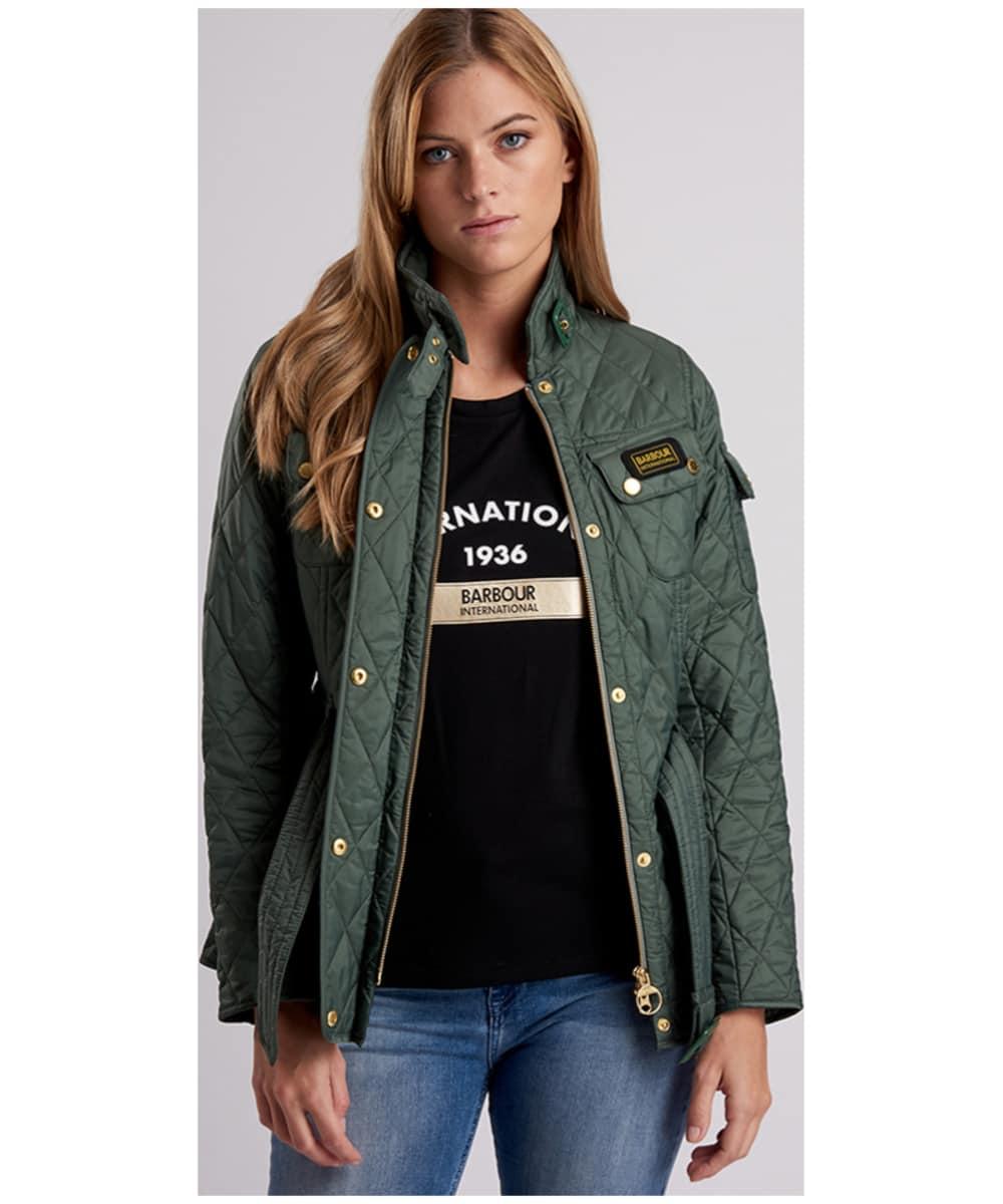 ... Women s Barbour Lightweight International Quilted Jacket - Light Khaki  ... 931e461c5