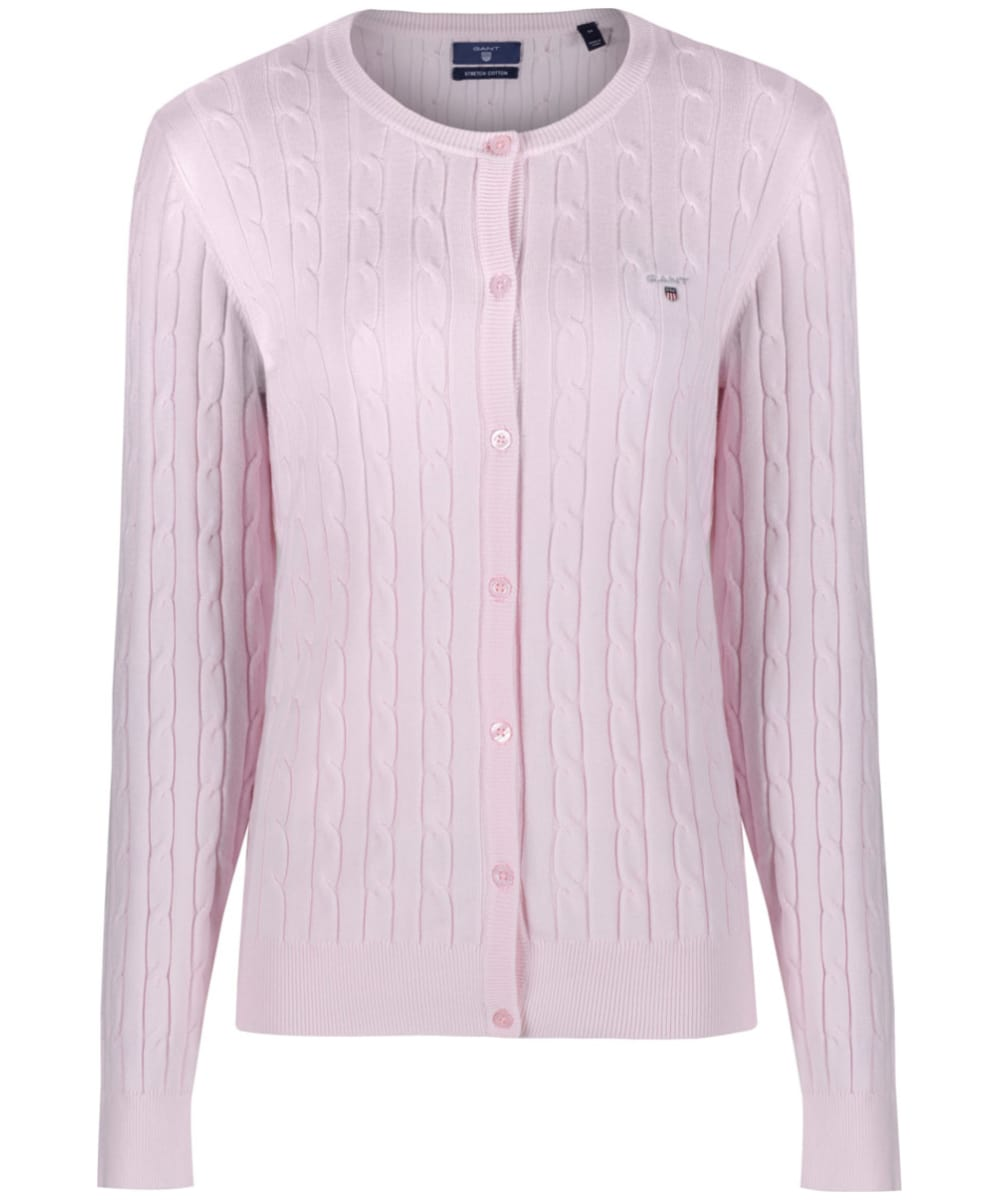 8e2ab9e57d0 Women's GANT Stretch Cotton Cable Cardigan - Barley Pink
