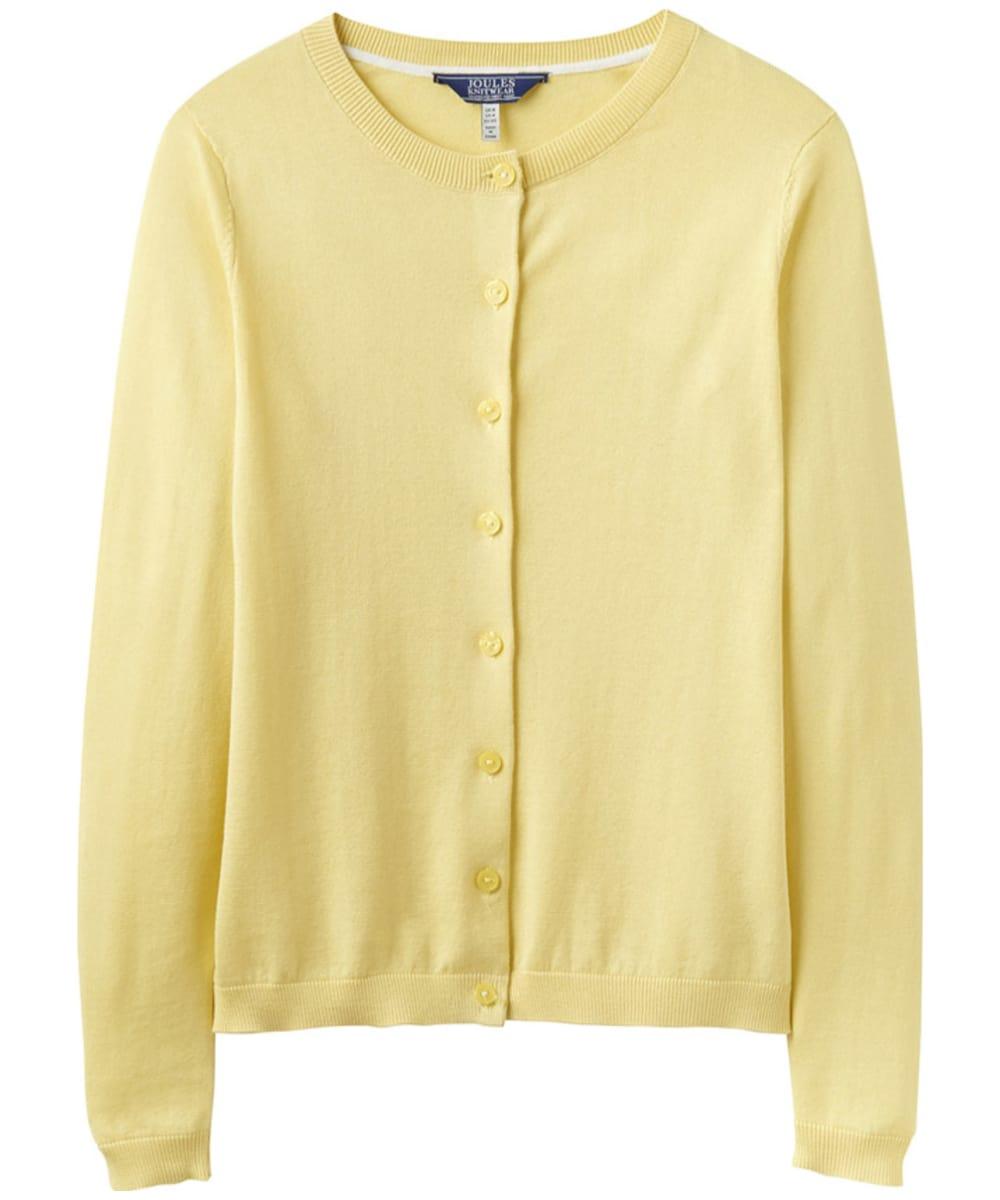 Women s Joules Skye Button Front Cardigan - Lemon eba6b08ce