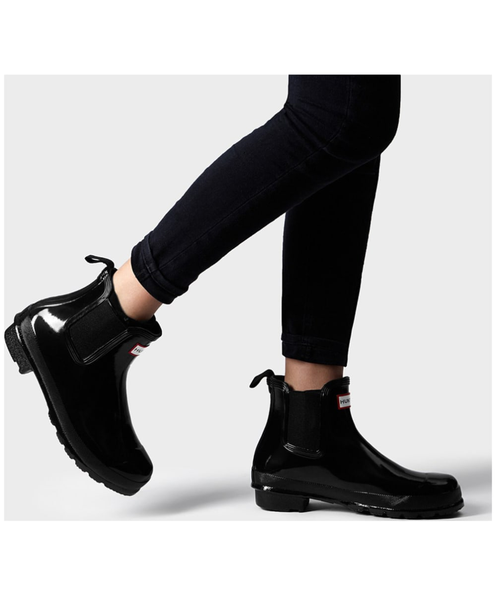 sports shoes detailing outlet Women's Hunter Original Chelsea Gloss Boots