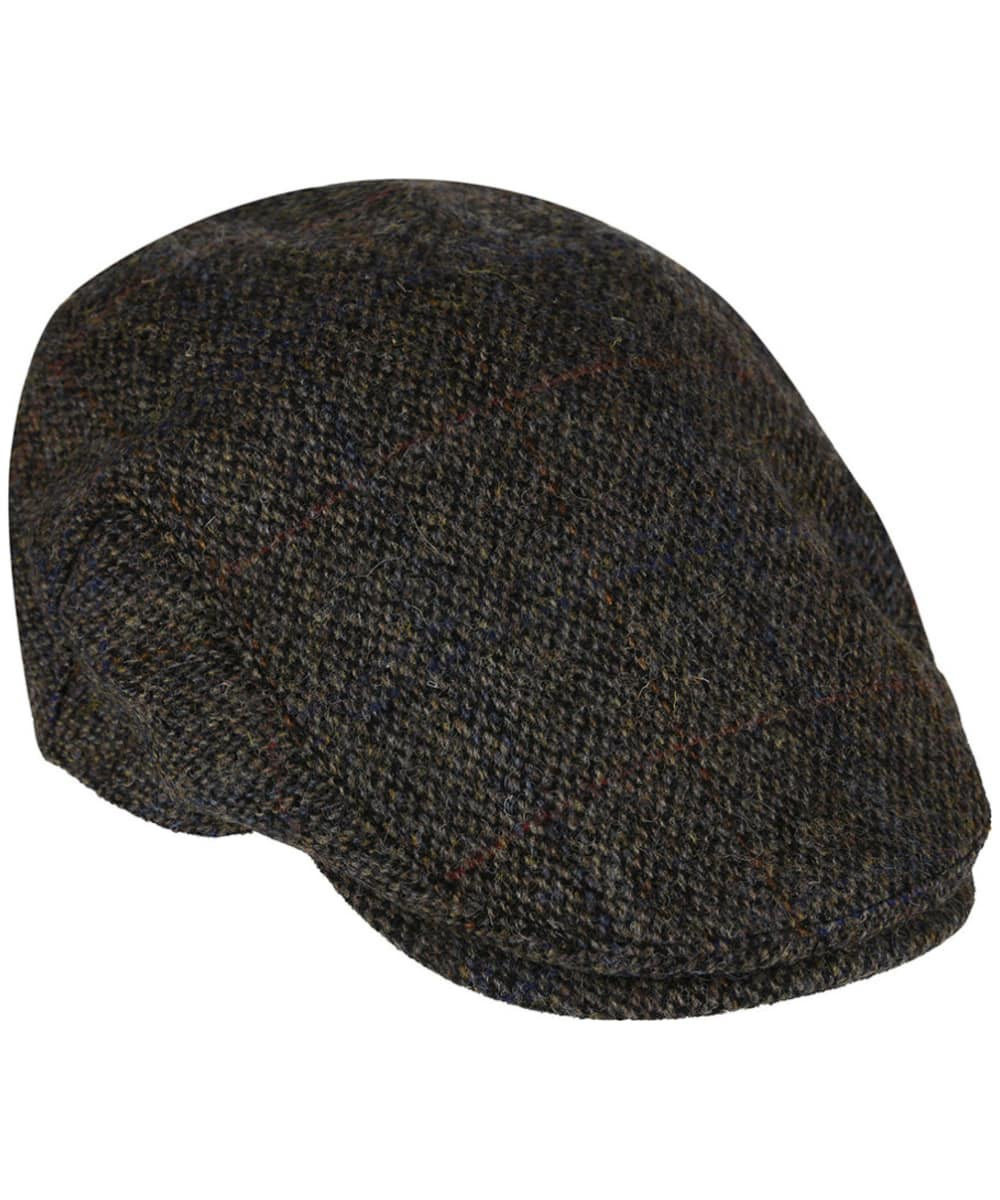 4e11b1715a0089 ... Heather Highland Harris Tweed Flat Cap - Grey ...