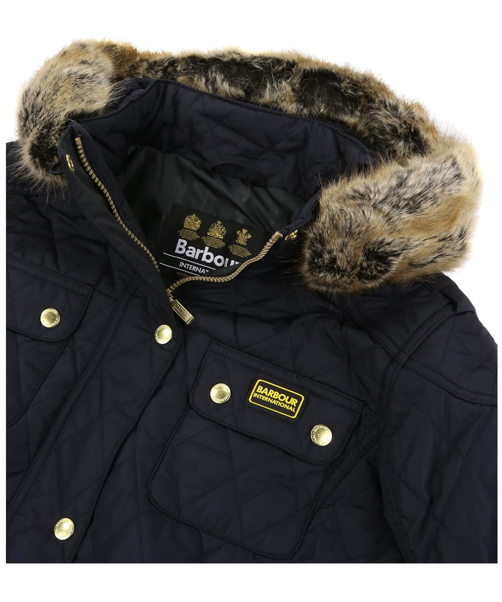 7aae1a36c ... Women's Barbour International Enduro Quilt - Navy ...