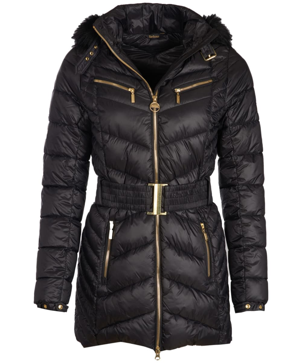 Women s Barbour International Grand Quilted Jacket - Black 3b675208e