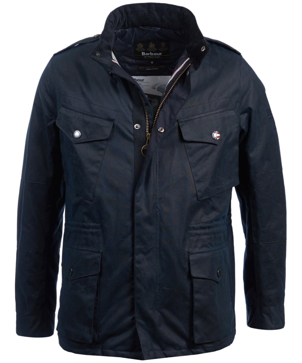 Men s Barbour Steve McQueen Tuscon Waxed Jacket - Navy 336dcc5abe15