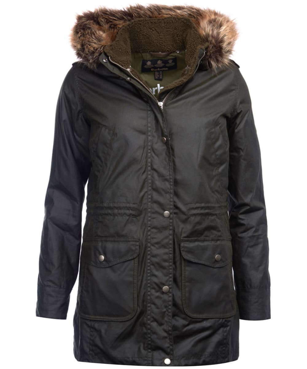 Women s Barbour Bridport Waxed Jacket - Fern 3602e87d5f