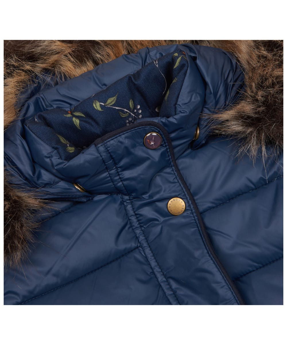 4326fd11dc3 ... Girl's Barbour Redpole Quilted Jacket, 2-9yrs - Navy ...