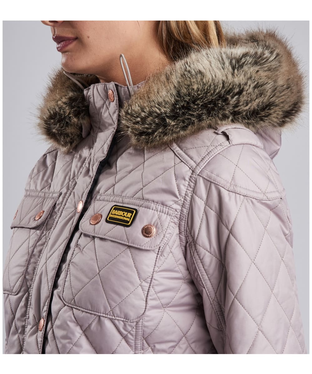 87d27d302 ... Women's Barbour International Enduro Quilt - Latte ...