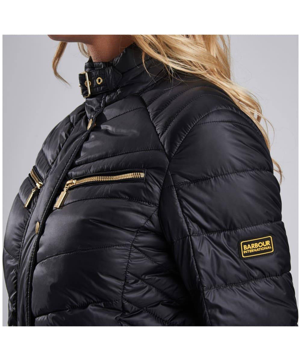 9d4fec912fde5 ... Women s Barbour International Trail Quilted Jacket - Black ...