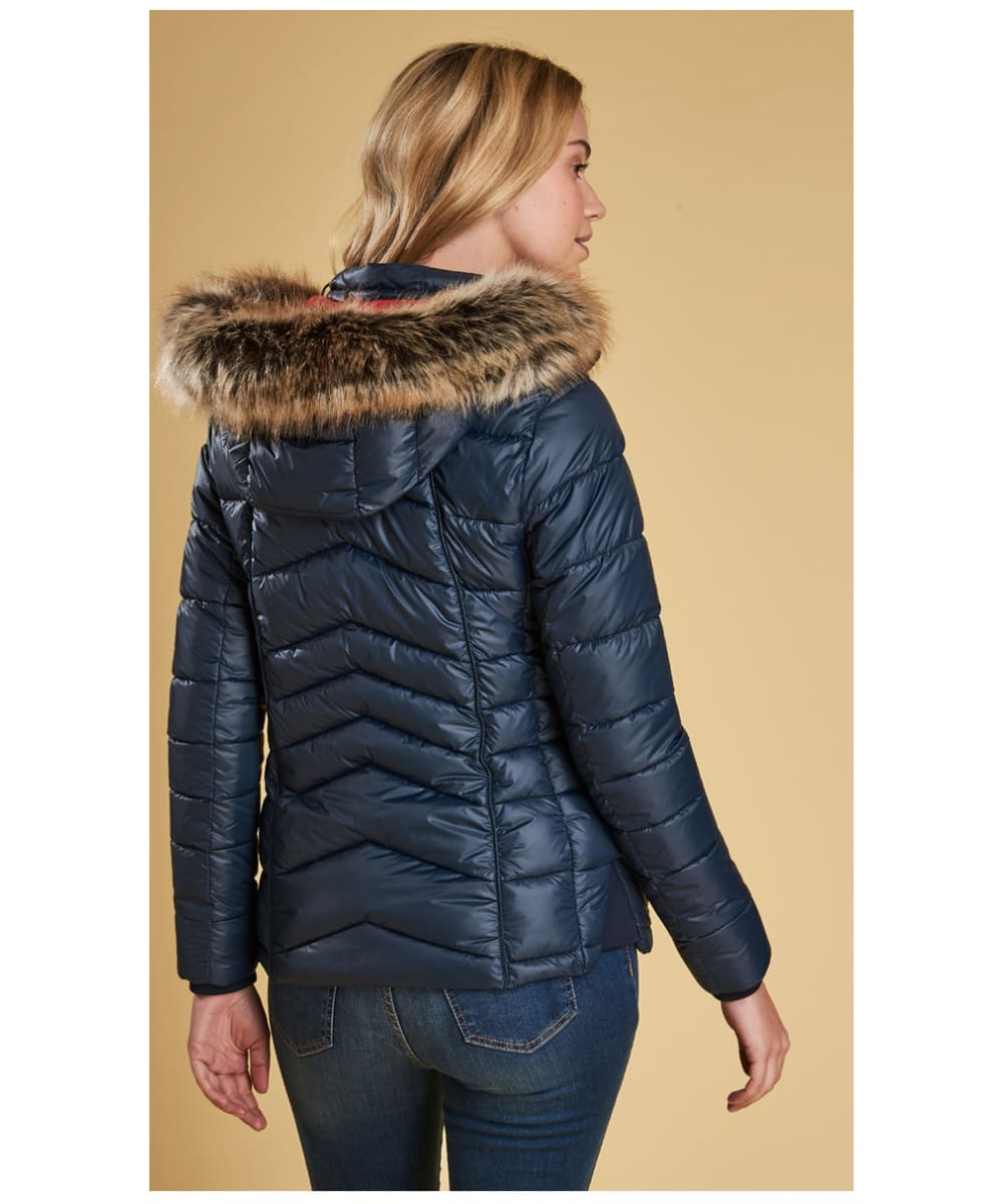 c1f918311482 ... Women s Barbour Bernera Quilted Jacket - Navy ...