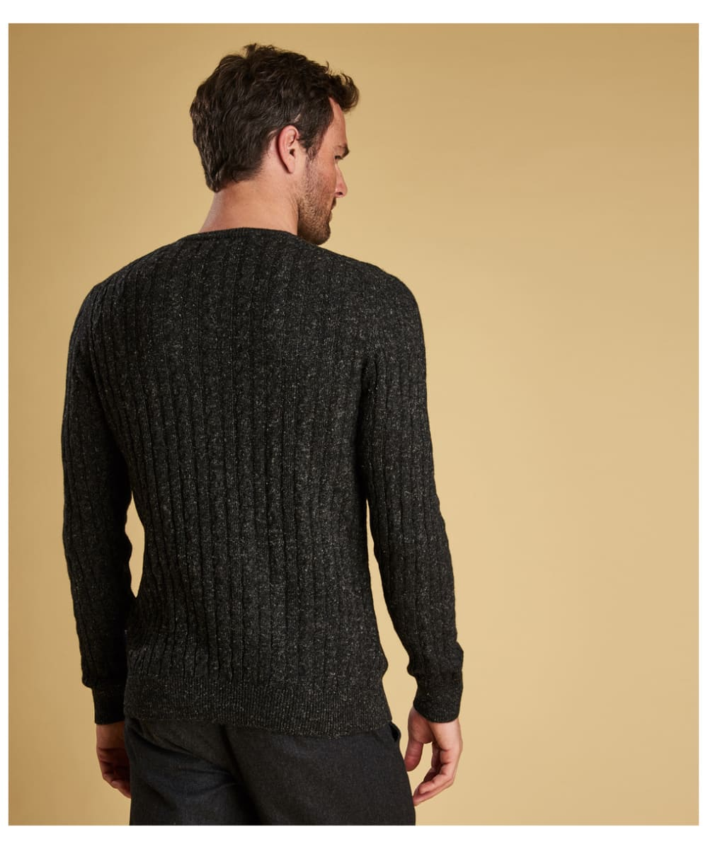 1ec8d1ad60 ... Men s Barbour Essential Cable Crew Neck Sweater - Charcoal ...