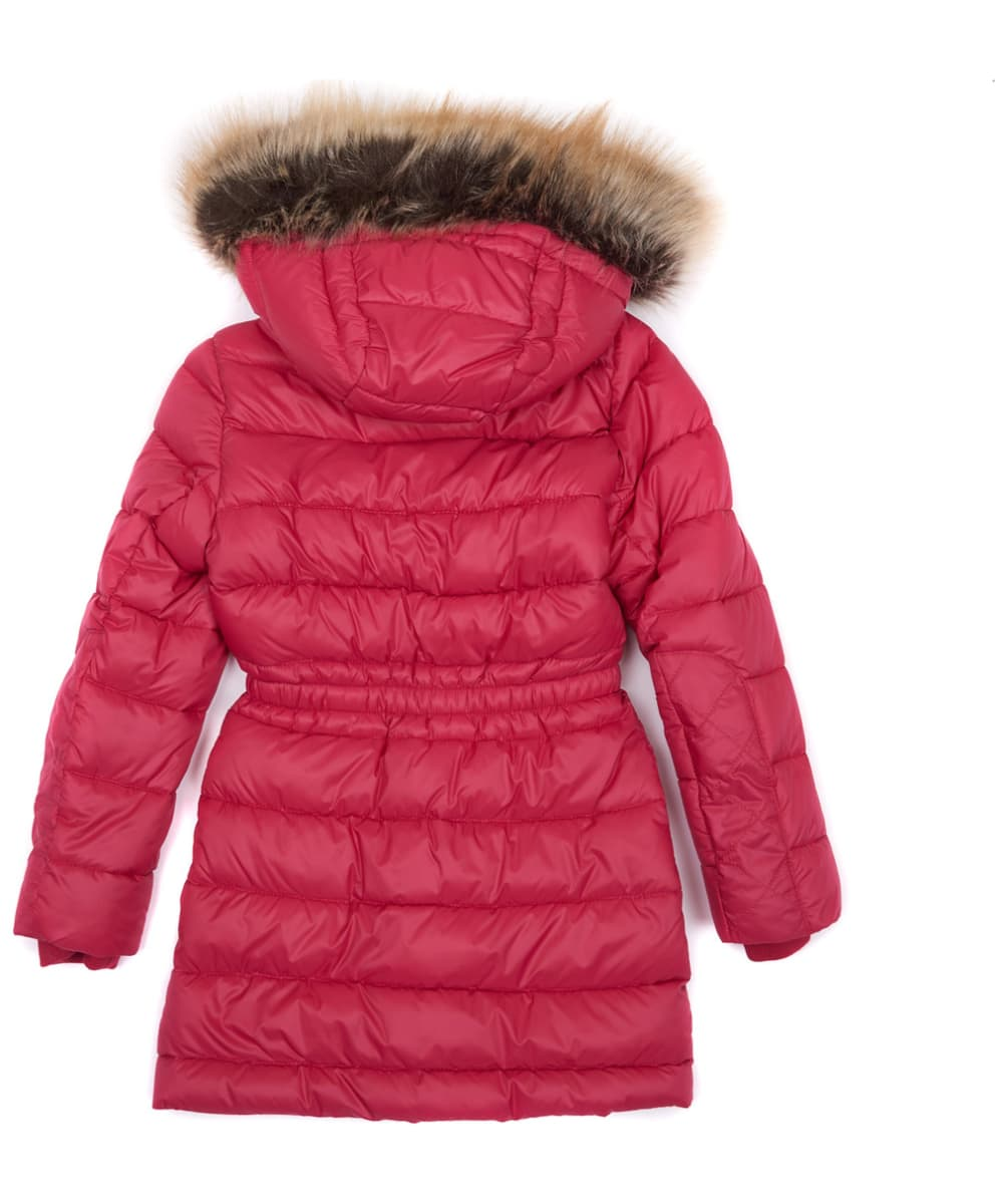 19814e46a97 ... Girl's Barbour Redpole Quilted Jacket, 2-9yrs - Grenadine ...