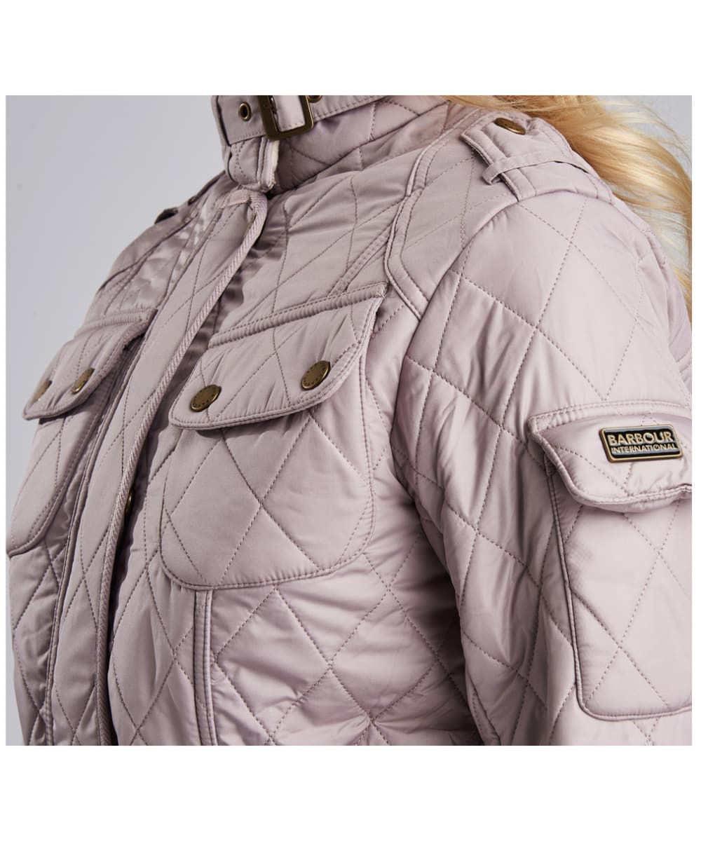 9a560e5a02 ... Women s Barbour International Tourer Polarquilt Jacket - Latte .