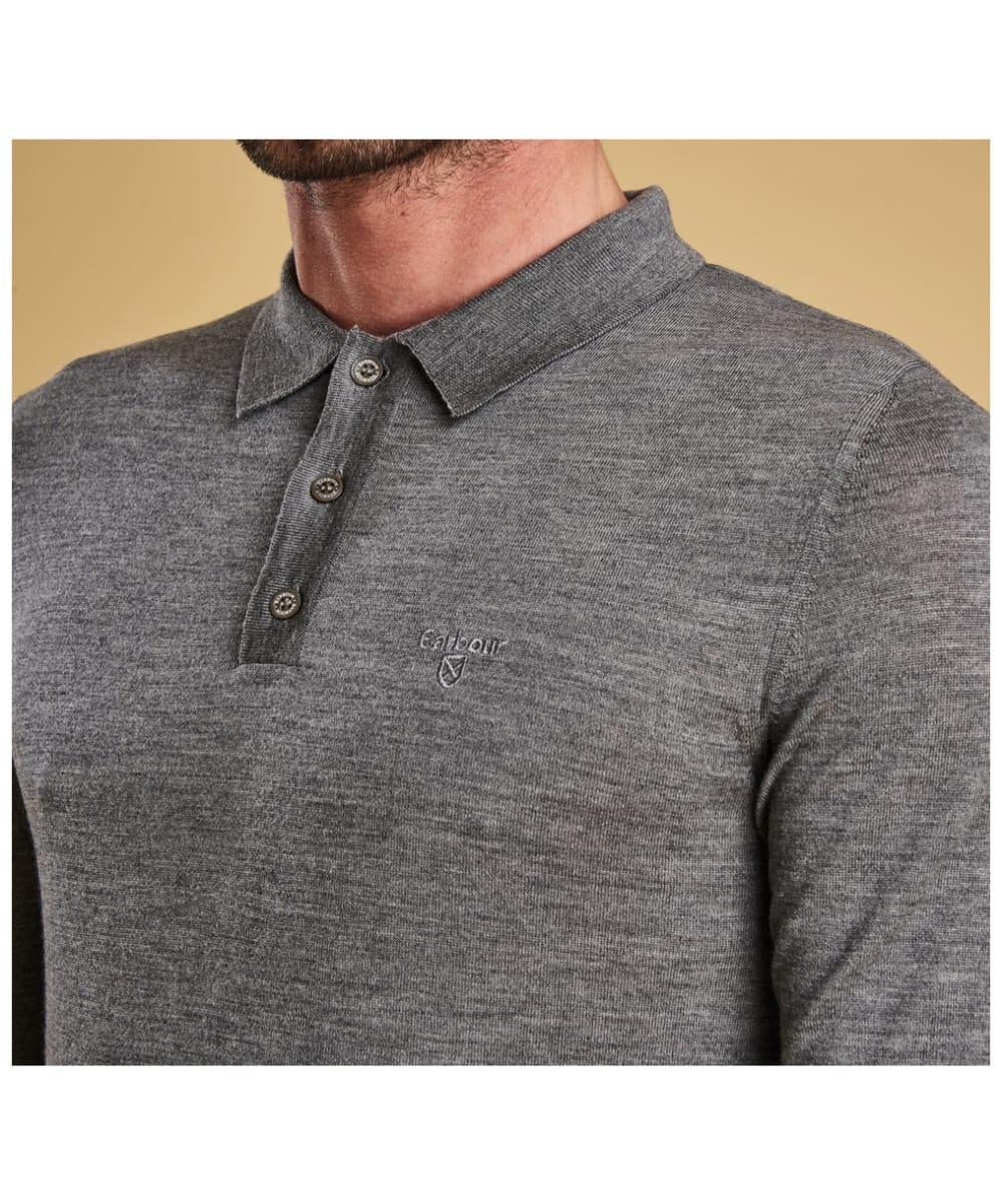 cc172eac1cd6 ... Men's Barbour Merino Long Sleeve Polo Top - Button down fasten ...