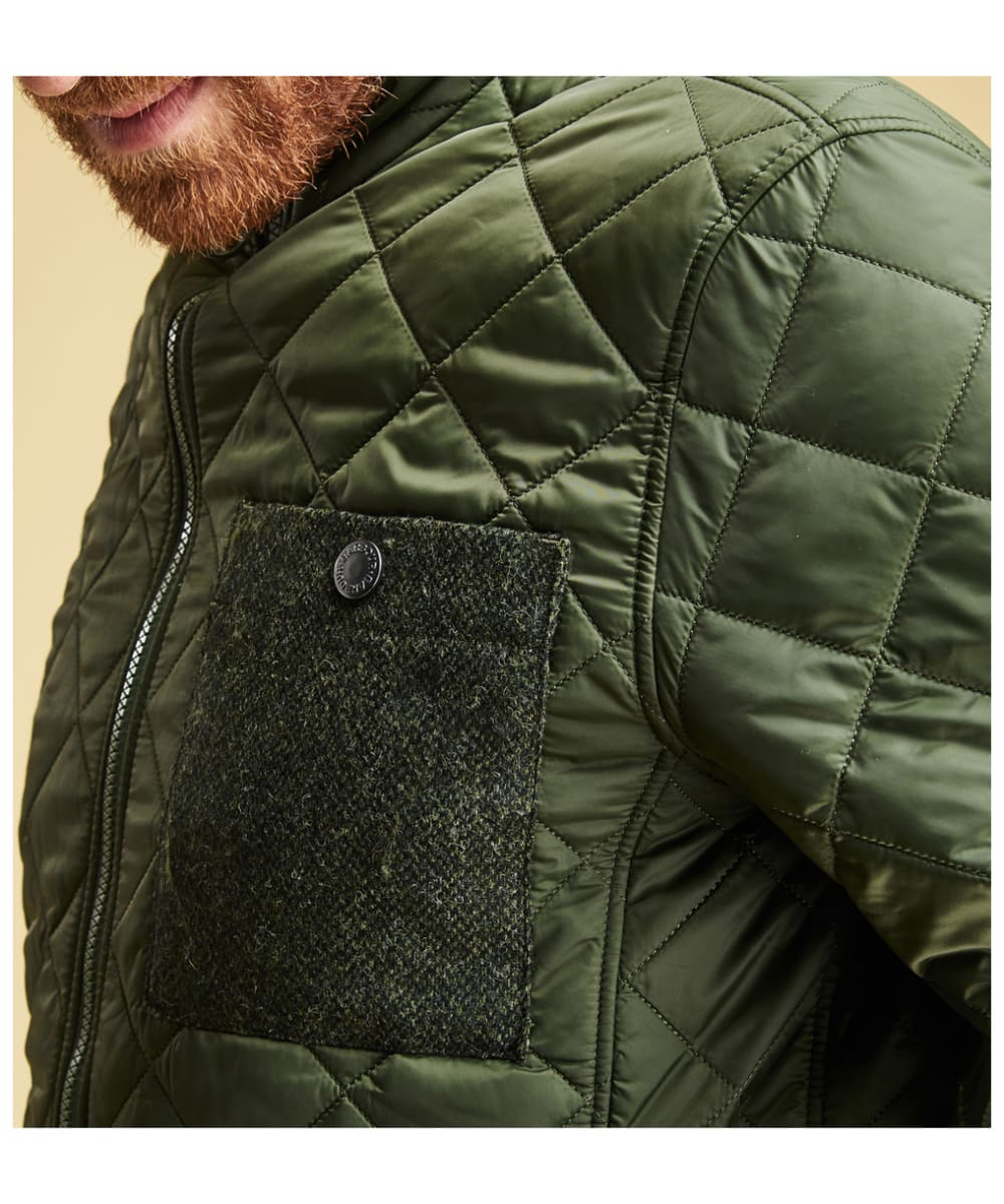 264f154d5312b ... Men's Barbour Abaft Quilted Jacket - Duffle Green ...