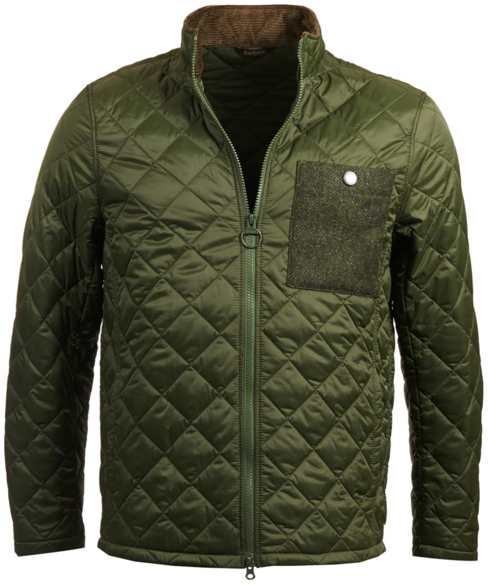 446c668cd0b44 Men's Barbour Abaft Quilted Jacket - Duffle Green