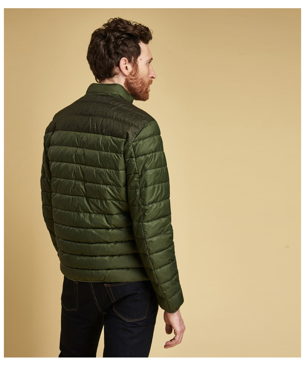 4e24d9205010f ... Men's Barbour Caboose Quilted Jacket - Duffle Green ...