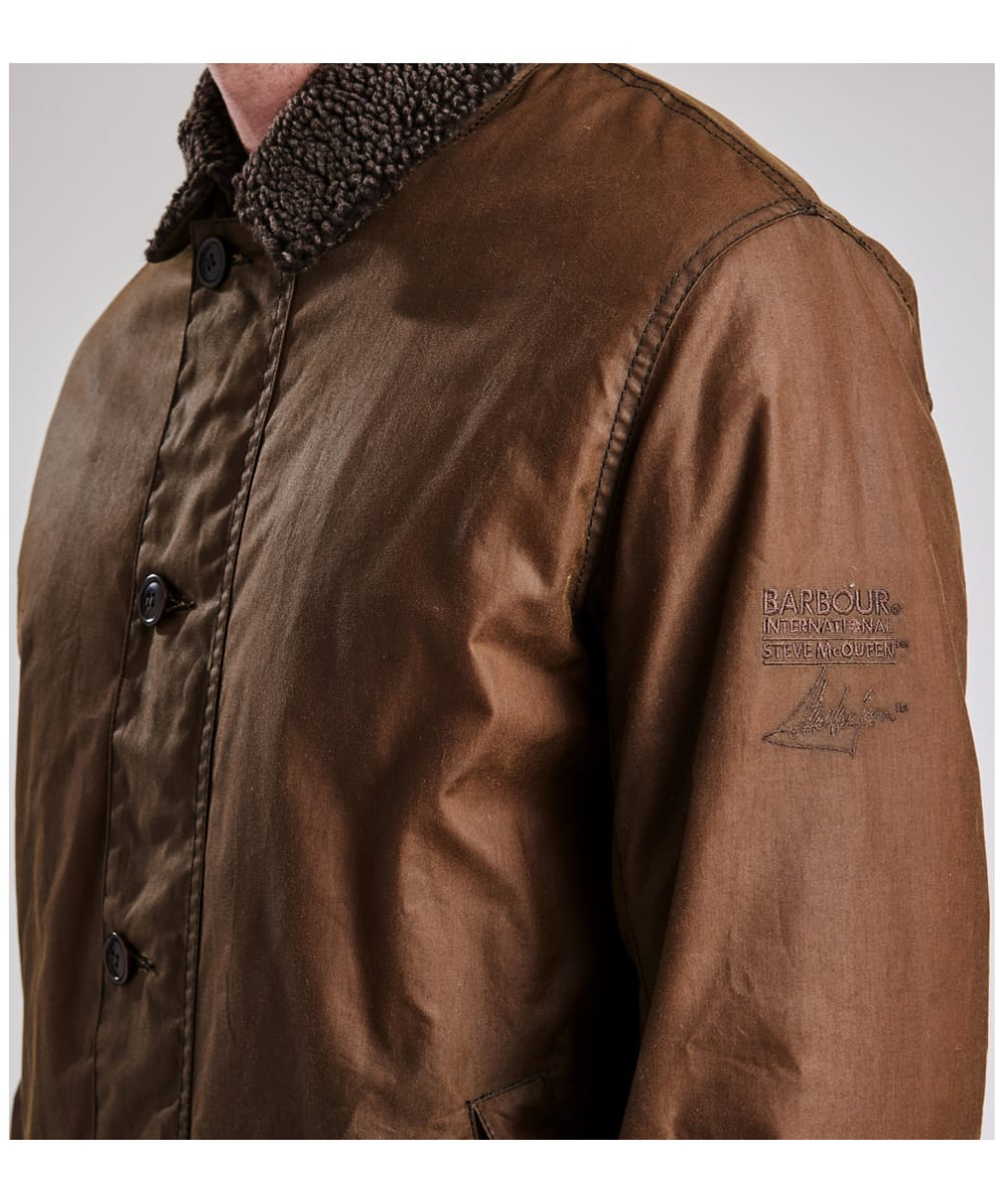 5e4e3e86472d ... Men s Barbour Steve McQueen Havasu Wax Jacket - Dark Sand ...