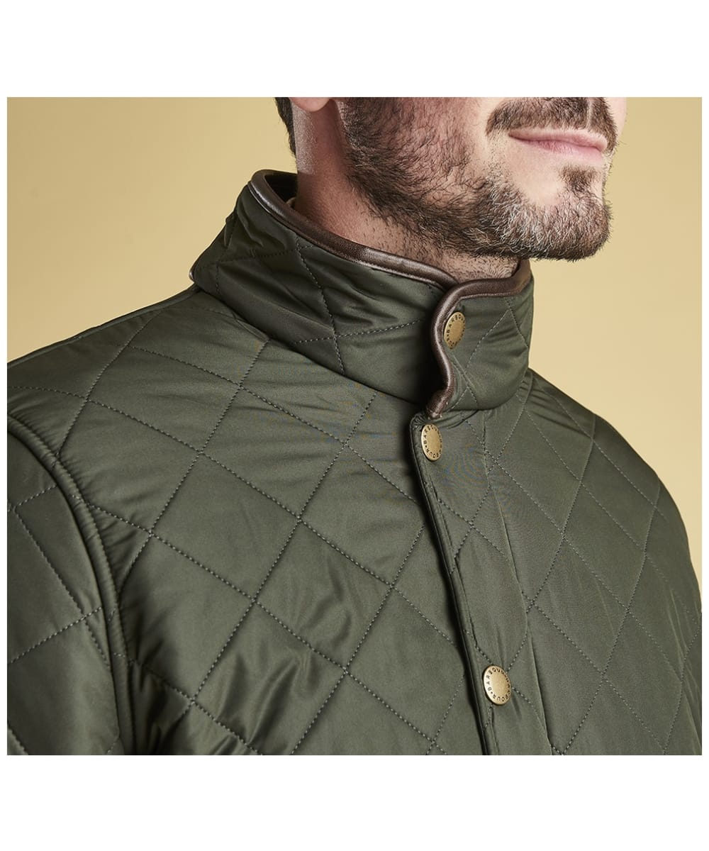 b5dc1aa5b38c ... Men s Barbour Powell Quilted Jacket - Sage ...