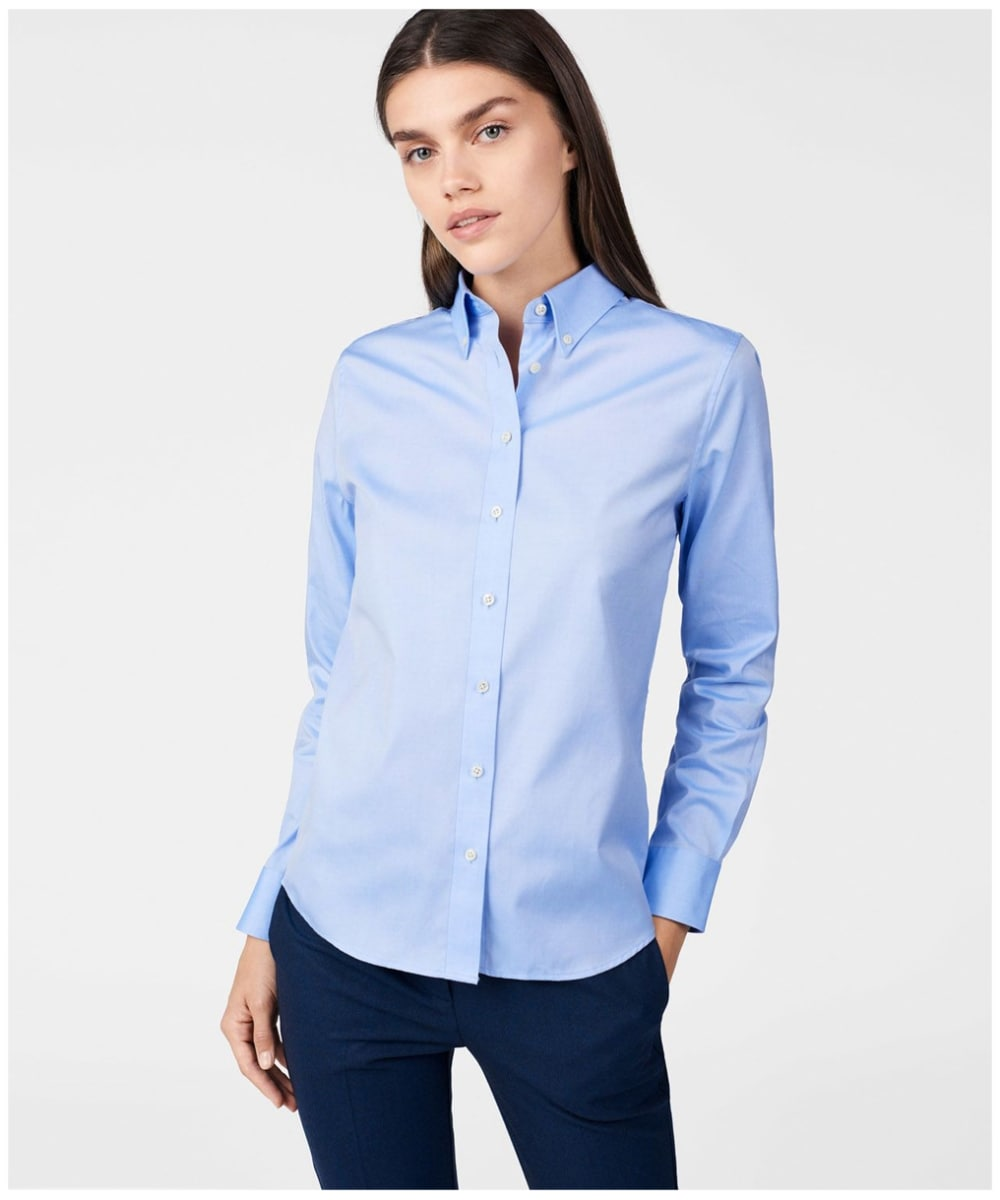 702fd5810ad ... Women's GANT Diamond G Pinpoint Oxford Shirt - Capri Blue ...