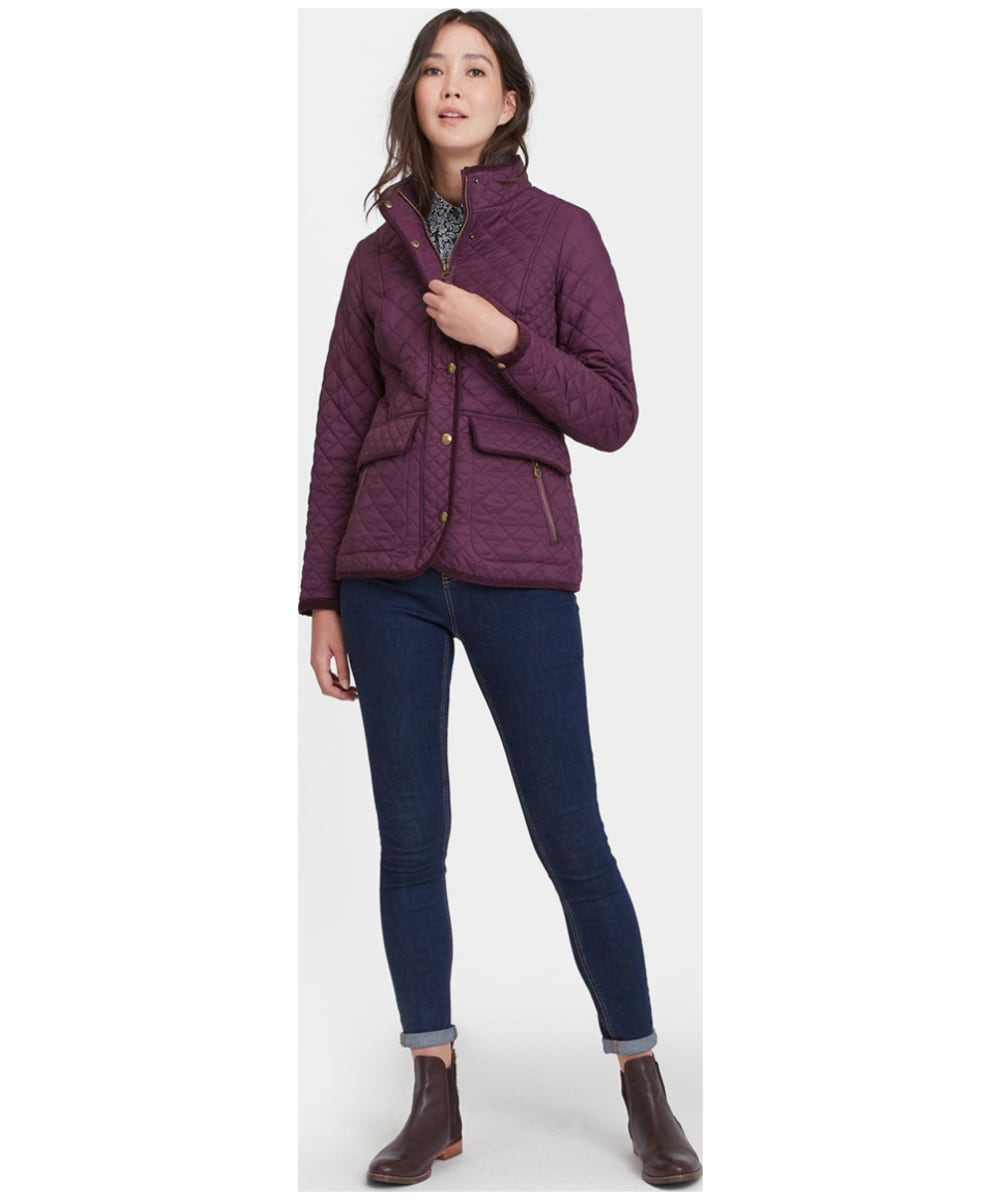 edb782a4425d ... Women s Joules Newdale Quilted Jacket - Burgundy ...